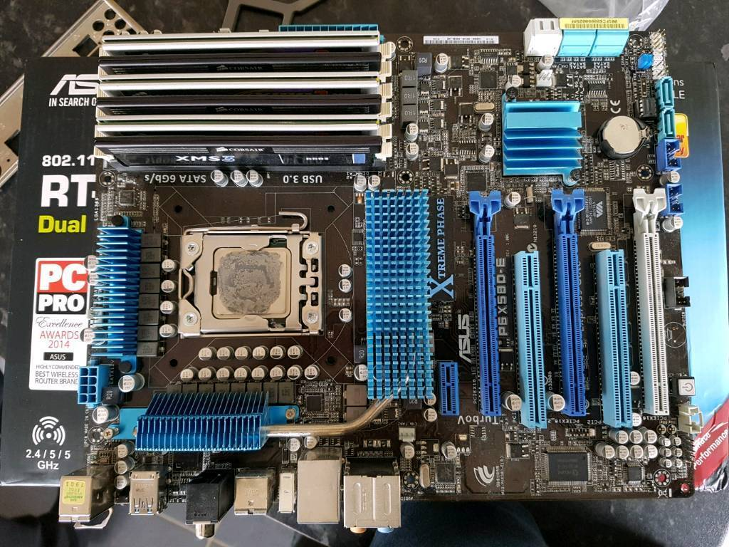 intel i7 930 asus 1366 socket motherboard 12gb ram bundle in mansfield nottinghamshire. Black Bedroom Furniture Sets. Home Design Ideas