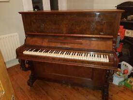 Exquisite Walnut Burr Upright Piano