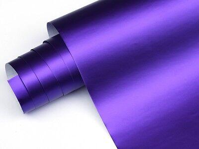Violett  Chrom Matt Metallic 200cm x 152cm Blasenfrei mit Luftkanäle 2Q