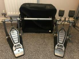 Pearl double bass drum kit pedal