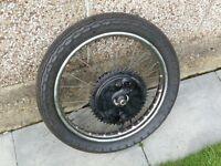 BSA 19inch Rear wheel QD type complete