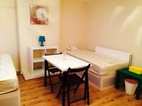 STUNNING HUGE DOUBLE/TWIN ROOM OWN ENTRANCE, 5 MNT WALK CANNING TOWN TUBE, STRATFORD, CANARY WHARF,B