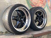 "19"" Rial Imola 5x120 BMW alloys RARE deep dish 8.5 front 10 rear F10 F01"