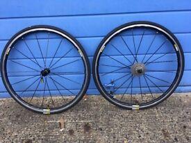 Mavic Ksyrium Elite wheelset + tubes, tyres, cassette