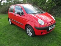 2004 Daewoo Matiz 1.0 Hatchback, Full Service History, New MOT, Low Mileage, Drives Well.