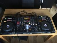 Pioneer CDJ 900s decks and DJM 2000 mixer