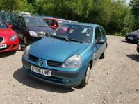06 PLATE RENAULT CLIO. 1.1 PETROL. PX TO CLEAR
