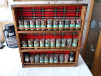 Hand Made Spice Rack/Spices