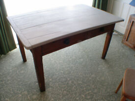 Pine Table - Very Old! - Two drawers