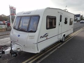fixed bed 4 berth with mover touring caravan