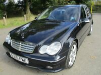 55 MERCEDES BENZ C220 CDI SPORT EDITION FULL HISTORY JUST SERVICED FULL LEATHER STUNNING PX SWAPS