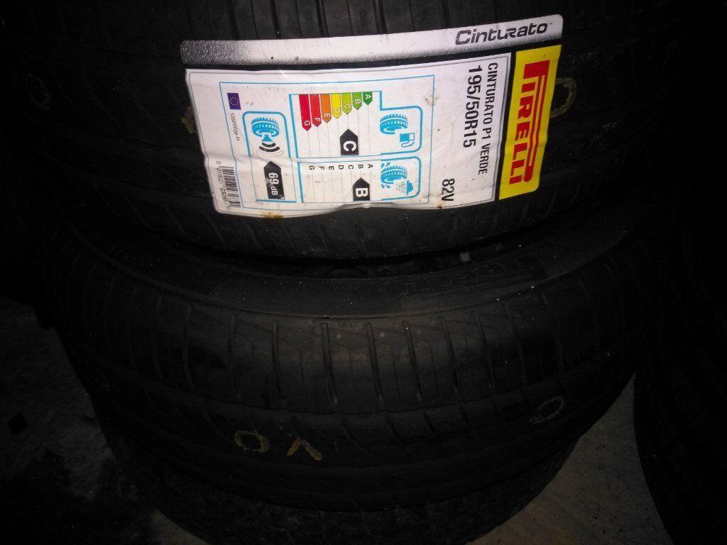 * * * PAIR 195/50r15 Pirelli P1 Tyres x2 NEW 1955015 2x 195/50/15 * * * *