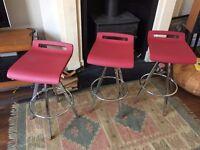 Italian breakfast bar stools red