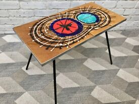 Mid Century French Vallauris Tiled Coffee Table #590