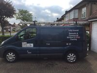 Windon cleaning van and complete two person set up