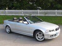 2002 (02) BMW 3 Series 2.0 318Ci| NAVY HOOD | Convertible | Auto | 12 MONTHS MOT | F.S. HISTORY