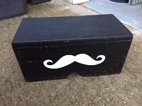 Stool Step Moustache Prop Box Photo Booth Barbers