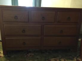Light oak chest of drawers like new