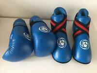 Sparring gloves and shoes size small - as new
