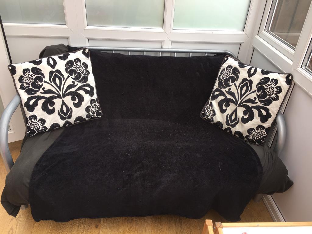 Double metal frame futon