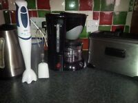 Kitchen Appliances: Stainless Steel Deep Fryer, Braun Hand Blender, Coffee Maker, Tefal Kettle