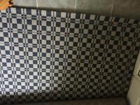 Ikea checked black and white monochrome rug