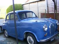 Austin A35 Classic Car, 1959, Tax and MOT exempt, Blue, Project car.