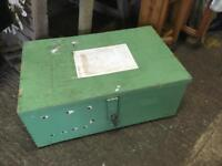 VINTAGE GREEN PAINTED TOOL/TOY BOX/CHEST - CAN DELIVER