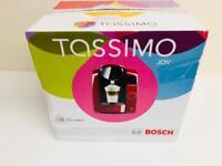 BOSCH TASSIMO JOY T45 TAS4504GB HOT DRINKS AND COFFEE MACHINE 1300W RED NEW