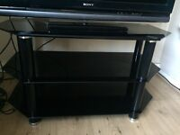 Black glass tv stand/ table MUST GO TODAY