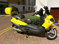 Piaggio X9 250SL, Lemon Yellow. Reg Sept 2003. 1 Owner from new & only 11,590 miles covered!