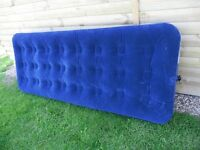 Single airbed. Bestway. Exellent condition but sorry, no pump. See details.