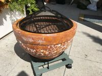 Torino Clay Firebowl and BBQ