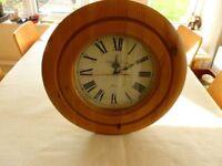 Pine wall clock