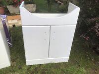 New Gloss White Vanity Sink Unit