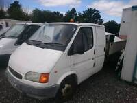 Ford transit double cab tipper 99v plate