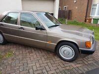 Mercedes Benz 190E 2.0 Auto 1990 Classic Car Excellent Condition Luxury Beige Leather Interior £2500