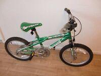 child's bike - magna riptraxx BMX bike 18 inch wheels