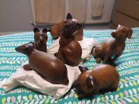Selection of Wooden Animal Ornaments