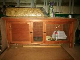 Single rabbitch hutch with accessories