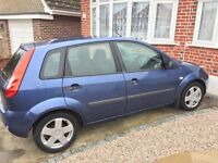 Ford Fiesta (Blue) 1.4 Petrol 2006, 5 door, MOT Expires December 2017, 66000 Miles