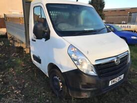 Vauxhall movano flat bed pick up 2012 136,000 miles fsh f3500