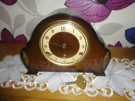 VINTAGE 1950's / 1960's BENTIMA 8 DAY WESTMINSTER CHIMING CLOCK £35.