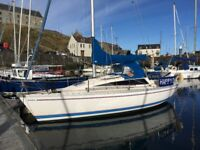 25 ft yacht Jeanneau Eolia, built 1986, extensively refurbished in recent years. Lying in Banff.