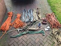 Assorted rigging/lowering kit/ropes
