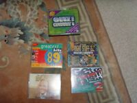 JOB LOT DOUBLE MUSIC CASSETTES PLUS QUIZ OF THE CENTURY CD - £1