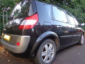 2006 1 owner black6 speed renault megane scenic 1.5diesel+12 month mot+full service history+DELIVERY