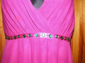 Designer At Debenhams Pink Evening Dress Star by Julien MacDonald Size 14 £70