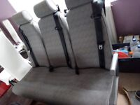 3 SEATER REAR VAN SEATS WITH SEATBELTS SUIT CONVERSION