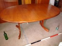 G Plan Fresco TABLE dining extending mid mod Danish teak era Brighton gplanera